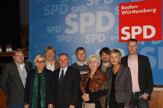 Der neue Kreisvorstand der SPD Heilbronn Land